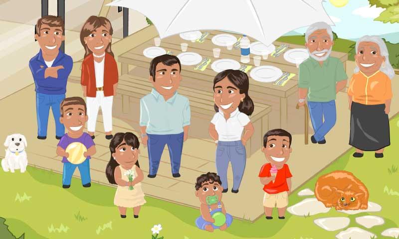Repas de famille - SpeakyPlanet