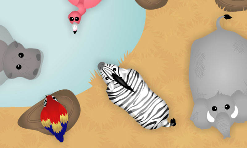 Les animaux de la savane au bord de l'eau - SpeakyPlanet