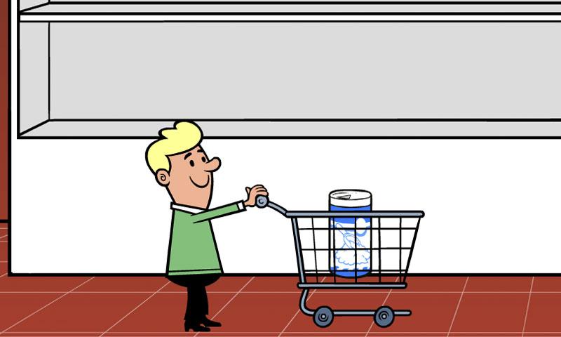 Au supermarché : rayon épicerie - SpeakyPlanet