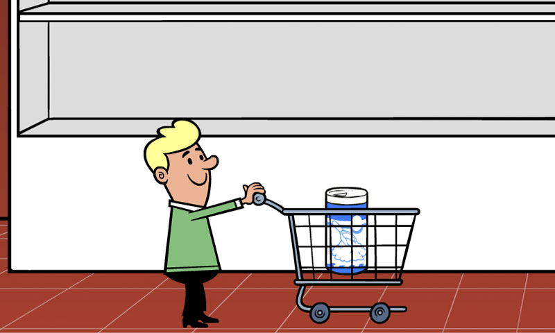 At the supermarket :  grocery aisle - SpeakyPlanet