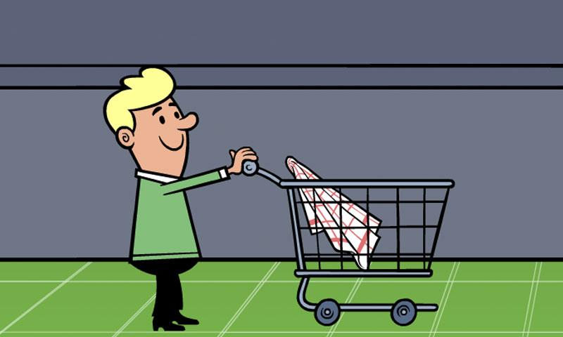 Au supermarché : rayon produits ménagers - SpeakyPlanet